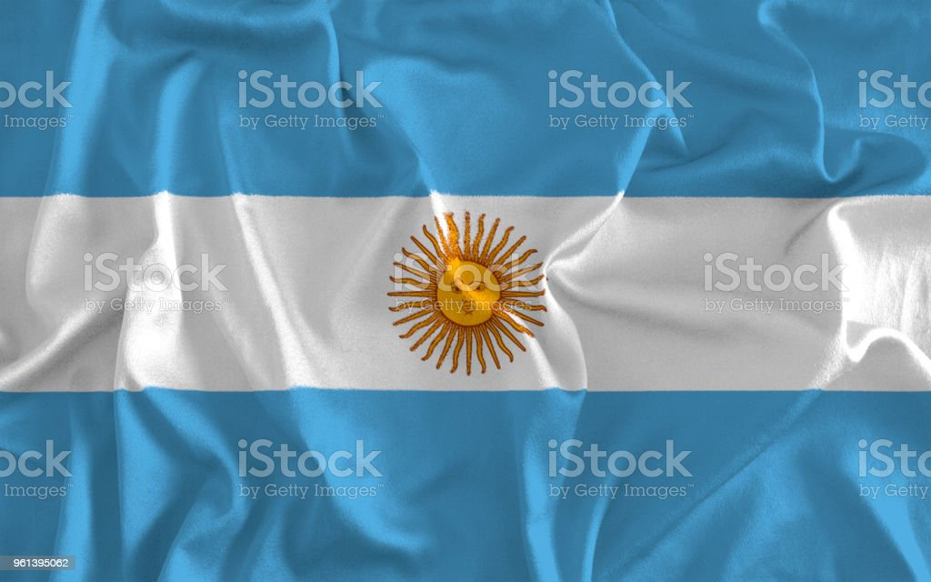 Flag of Argentina Background stock photo