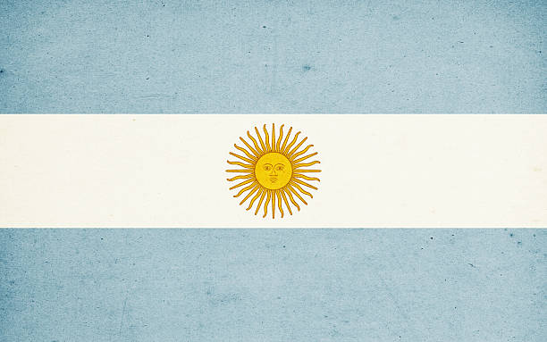 Flag of Argentina Close-Up (High Resolution Image) stock photo