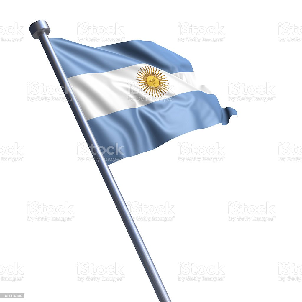 Flag of Argentina isolated on white stock photo