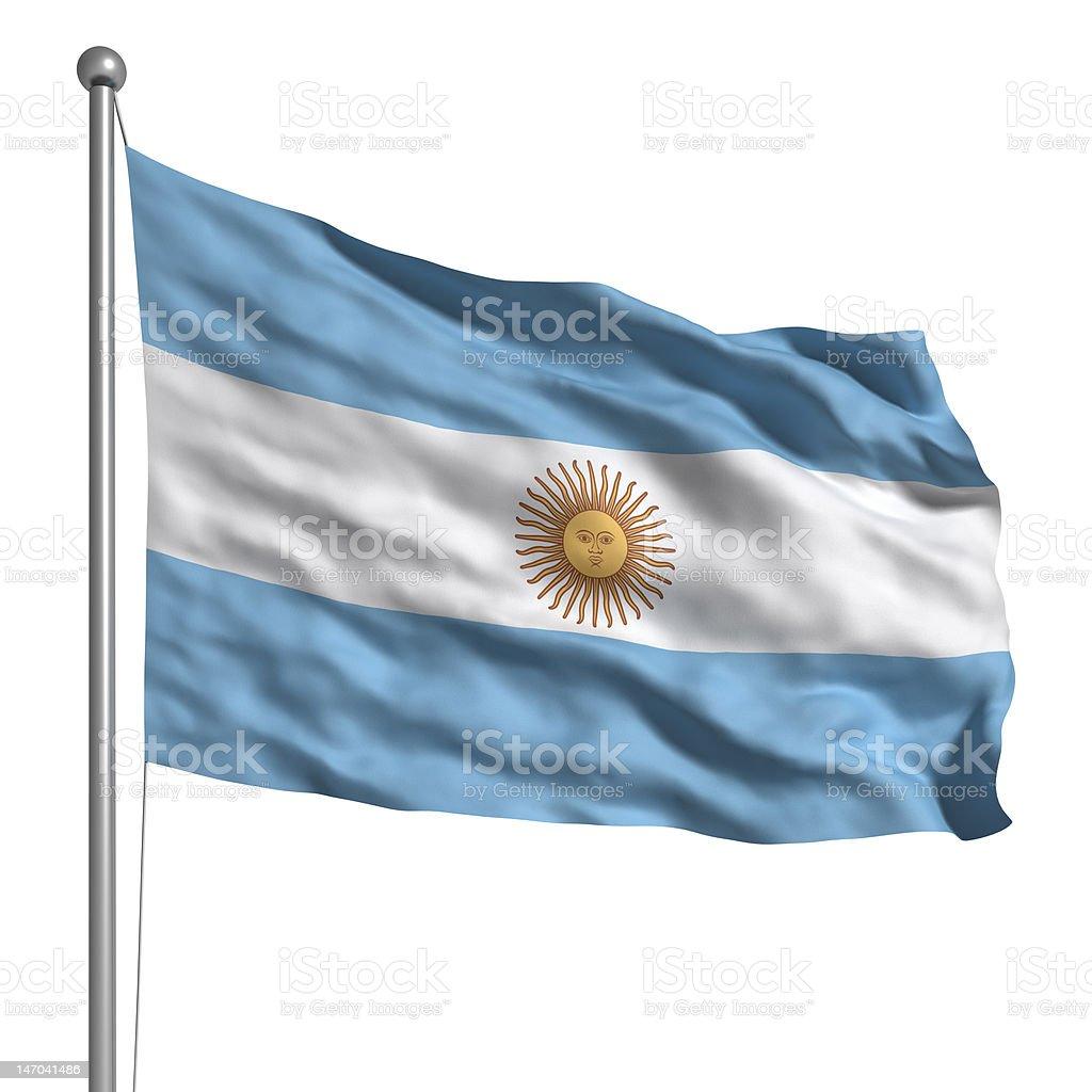 Bandera de Argentina (aislado - foto de stock