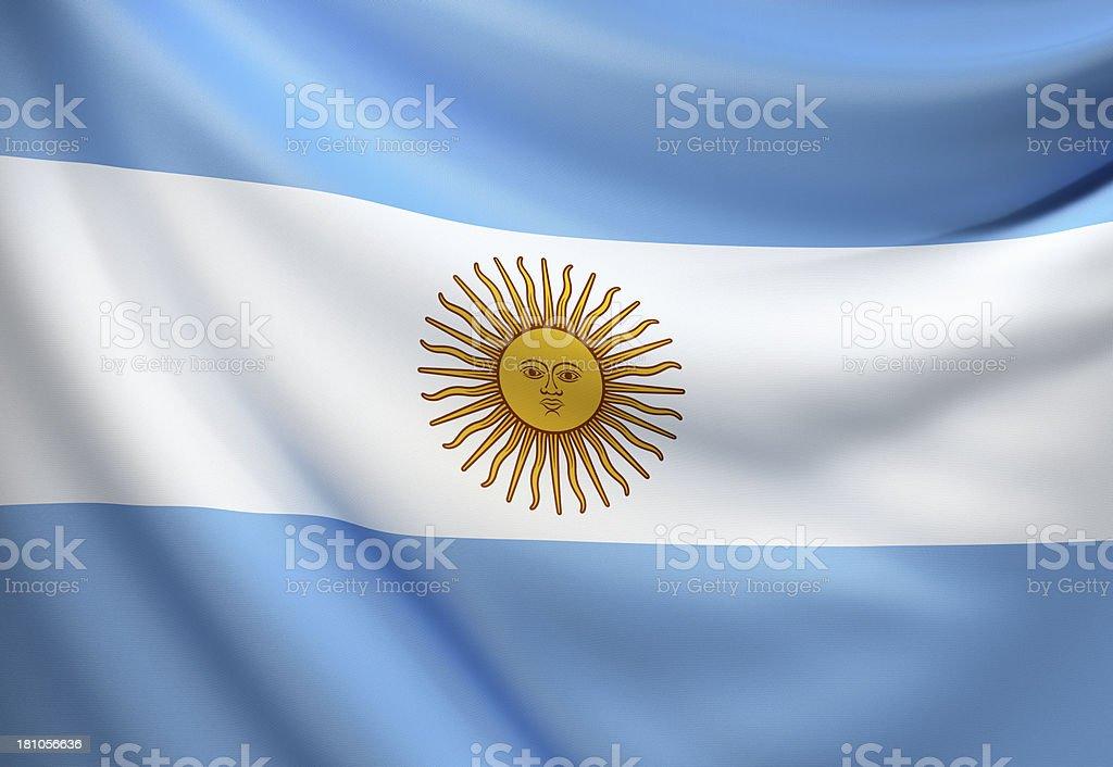 Bandera De Argentina Foto De Stock