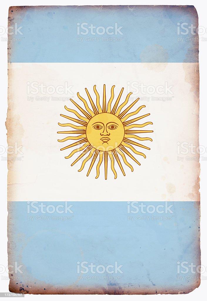 Flag of Argentina XXXL stock photo