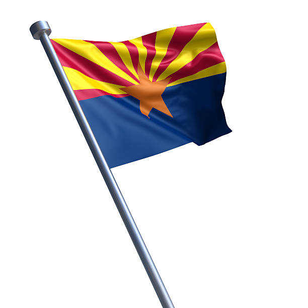 Bandeira do Arizona isolada no branco