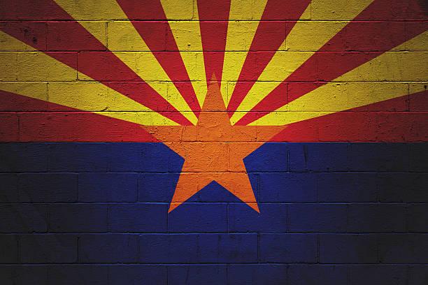 Bandeira do Arizona pintado na parede - foto de acervo