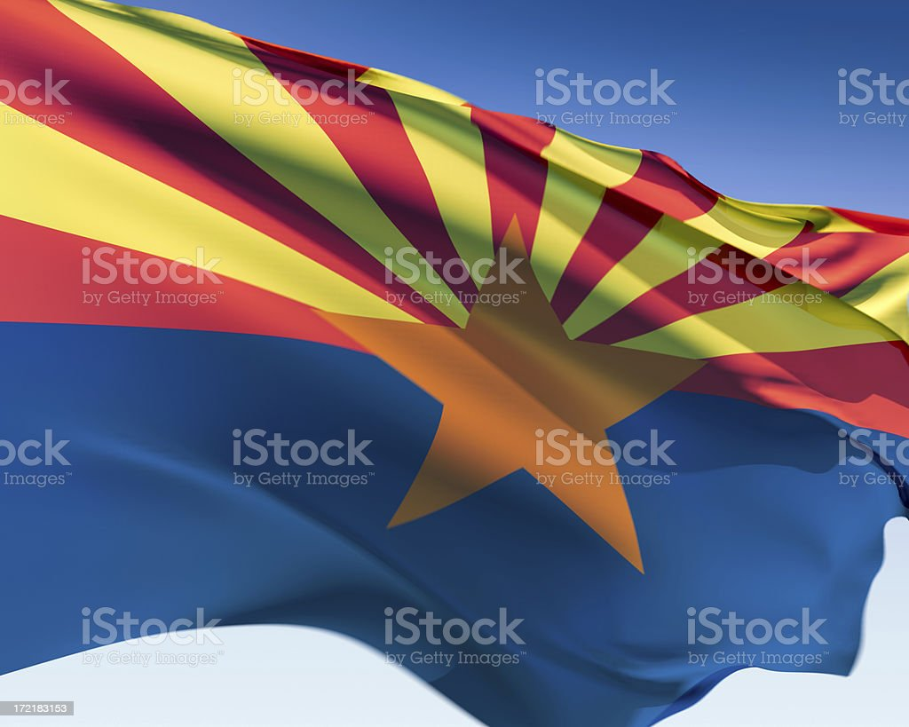 Flag of Arizona royalty-free stock photo