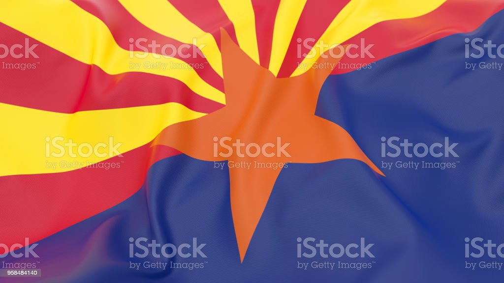 Bandeira do Arizona - foto de acervo