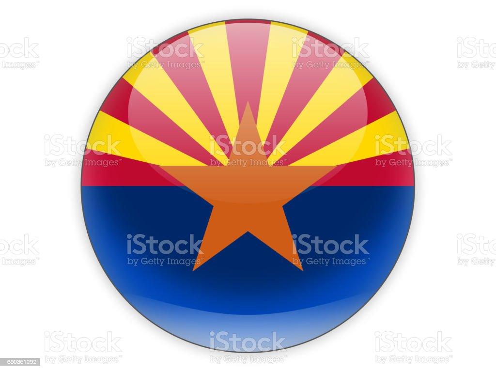 Bandeira do arizona, o ícone de estado dos EUA - foto de acervo