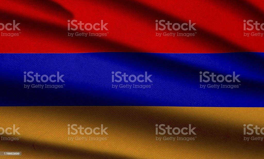 Bandera de Armenia foto de stock libre de derechos