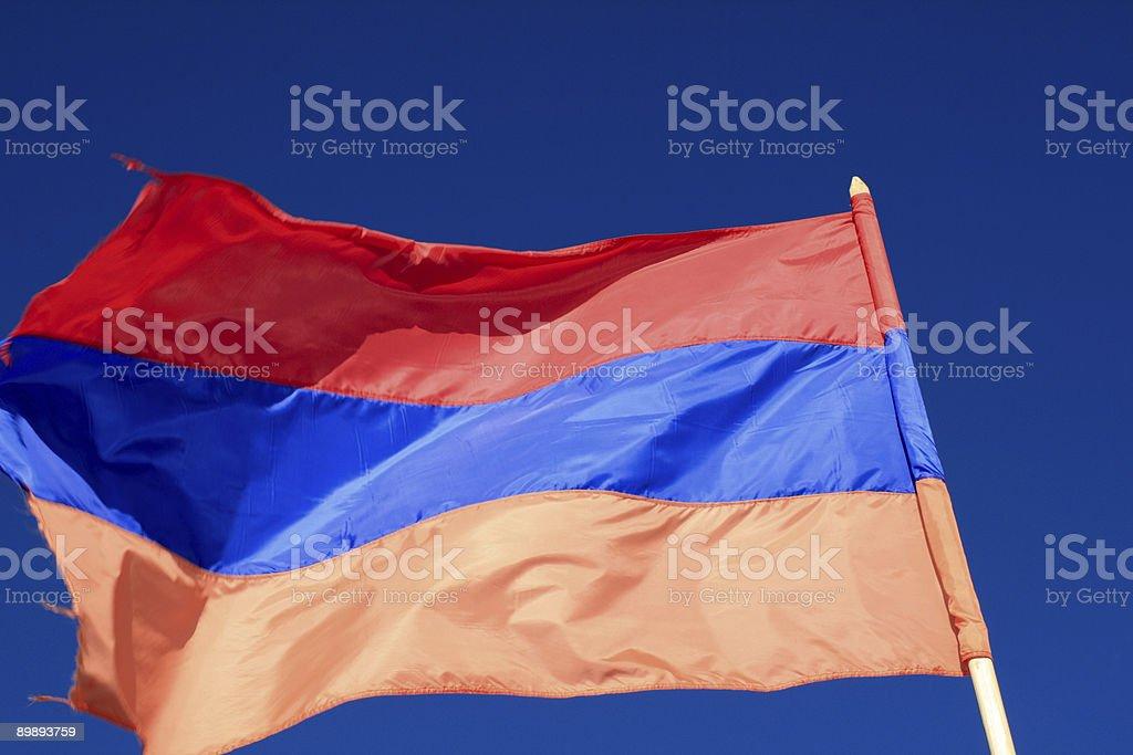 Flag of Armenia royalty-free stock photo