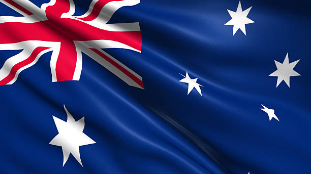 flag of Australia stock photo