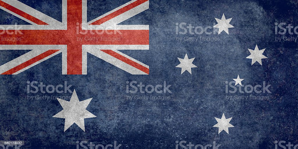 Flag of Australia with vintage retro textures stock photo