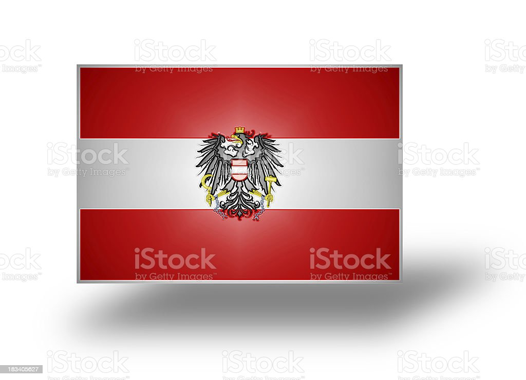 Flag of Austria (stylized I). stock photo