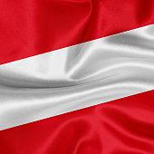 Flag of Austria waving background