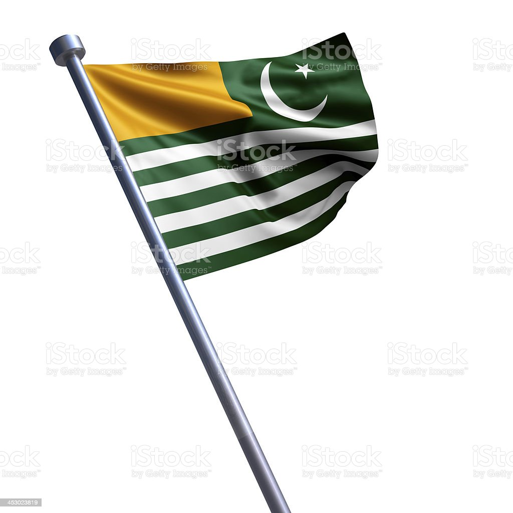 Flag of Azad Kashmir isolated on white stock photo