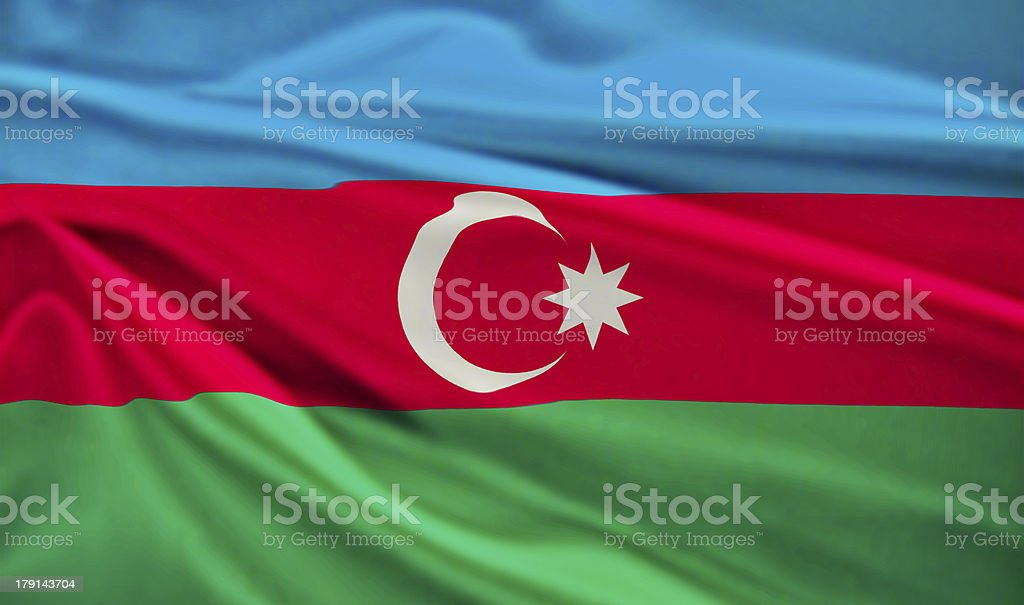 Flag of Azerbaijan stock photo