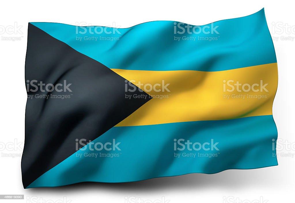 Flag of Bahamas stock photo