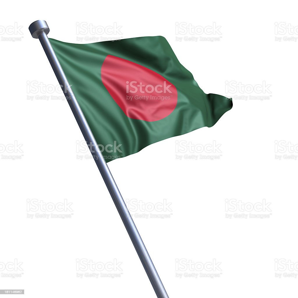 Flag of Bangladesh isolated on white stock photo