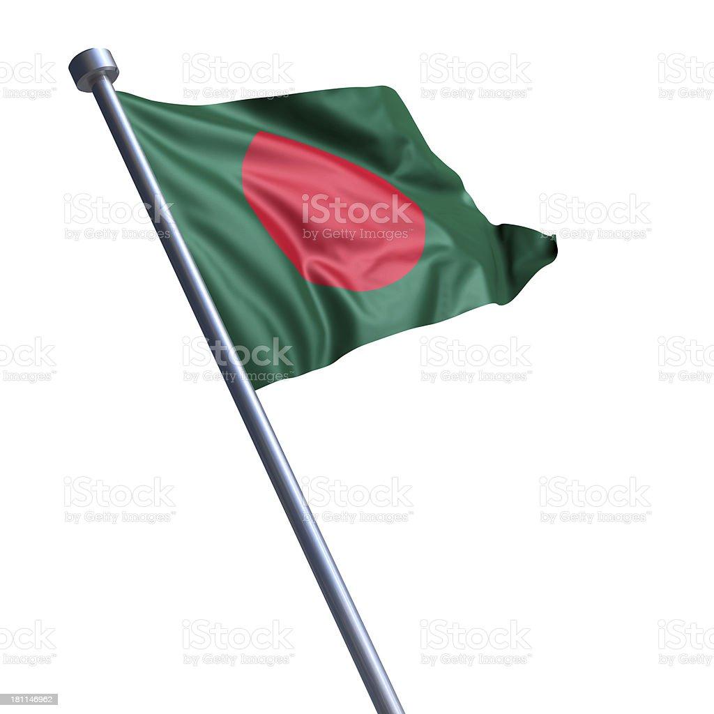 Flagge von Bangladesch, isoliert auf weiss – Foto