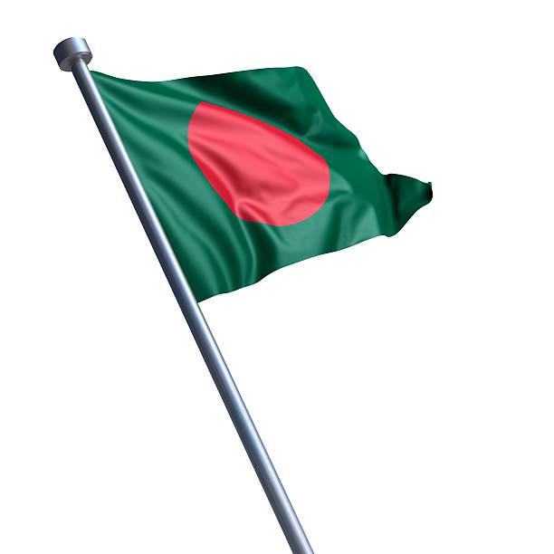 Bandeira do Bangladesh isolada no branco - foto de acervo