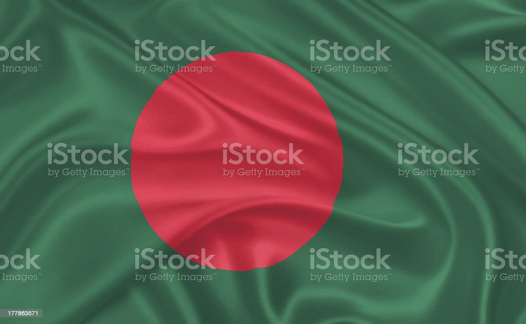 Flag of Bangladesh, stock photo