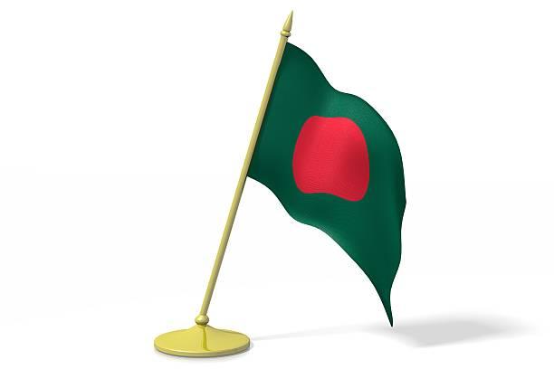 3D flag of Bangladesh stock photo
