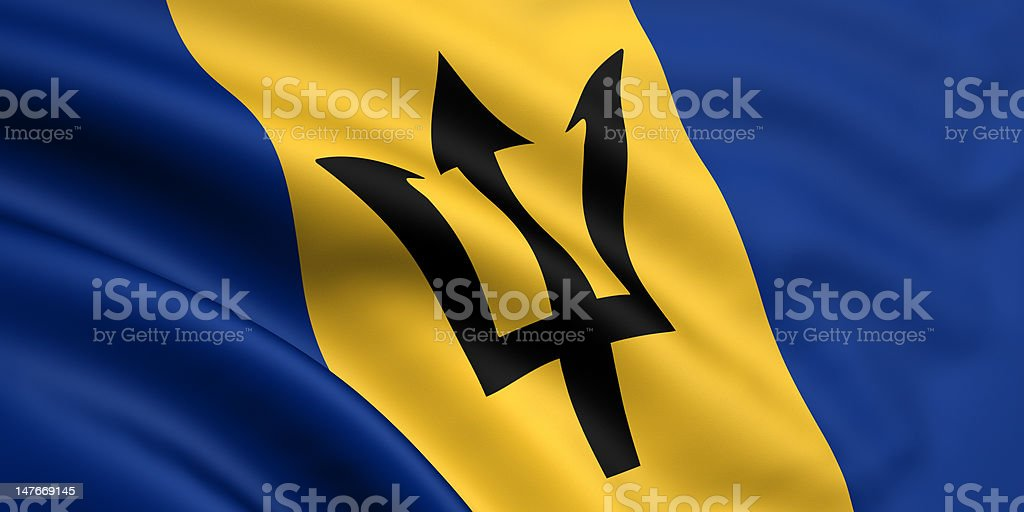Flag Of Barbados stock photo