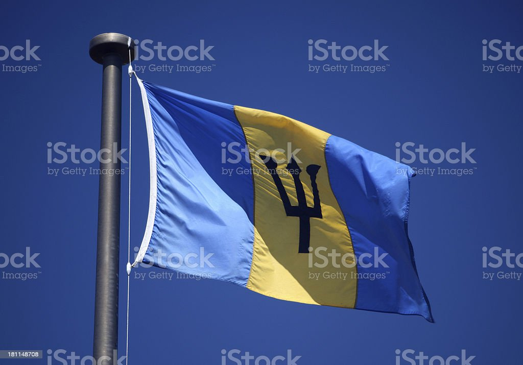 Flag of Barbados royalty-free stock photo