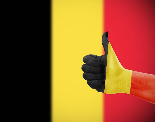 flagge von belgien vor ort - sanft und sorgfältig stock-fotos und bilder