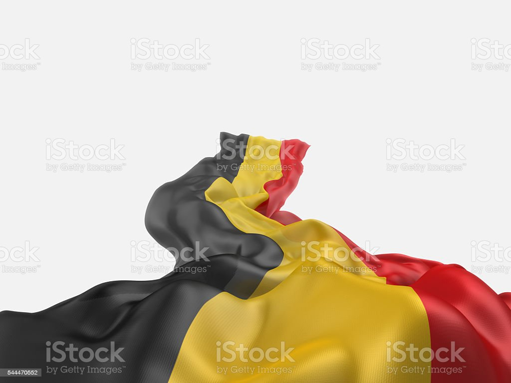 Flag of Belgium on white background. - foto de stock