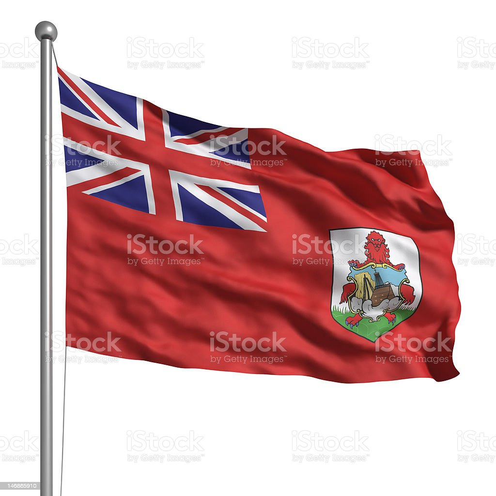 Flag of Bermuda (Isolated) stock photo
