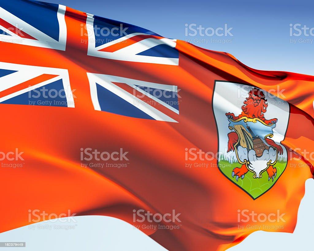 Flag of Bermuda stock photo