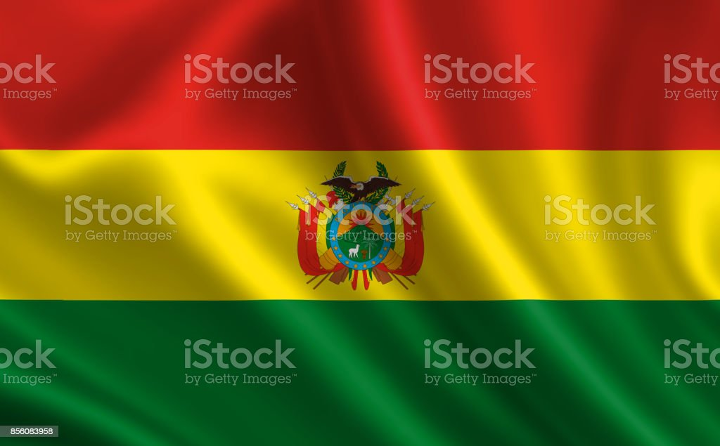 Flag of Bolivia. Part of the series. stock photo