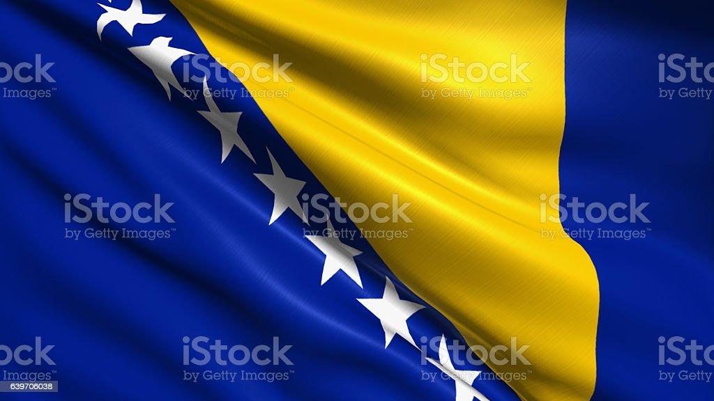 flag of Bosnia and Herzegovina stock photo