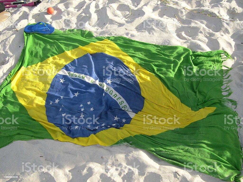 Flag of Brazil (brasil) stock photo