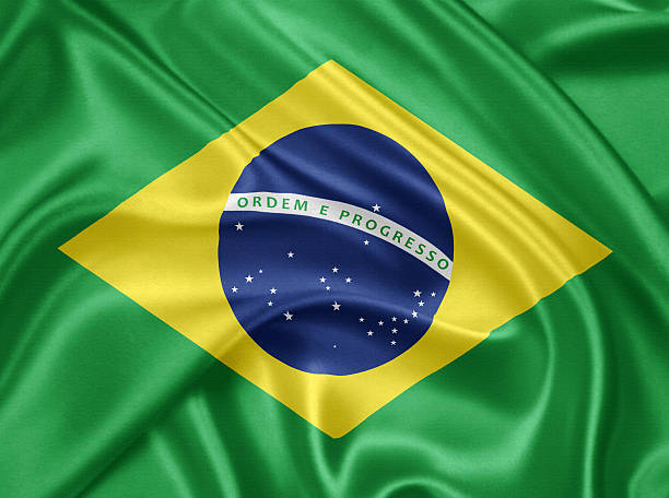 Flag of Brazil stock photo