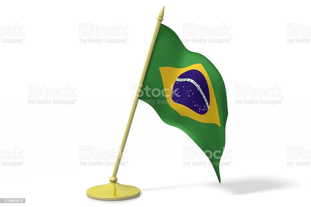 3D flag of Brazil stock photo