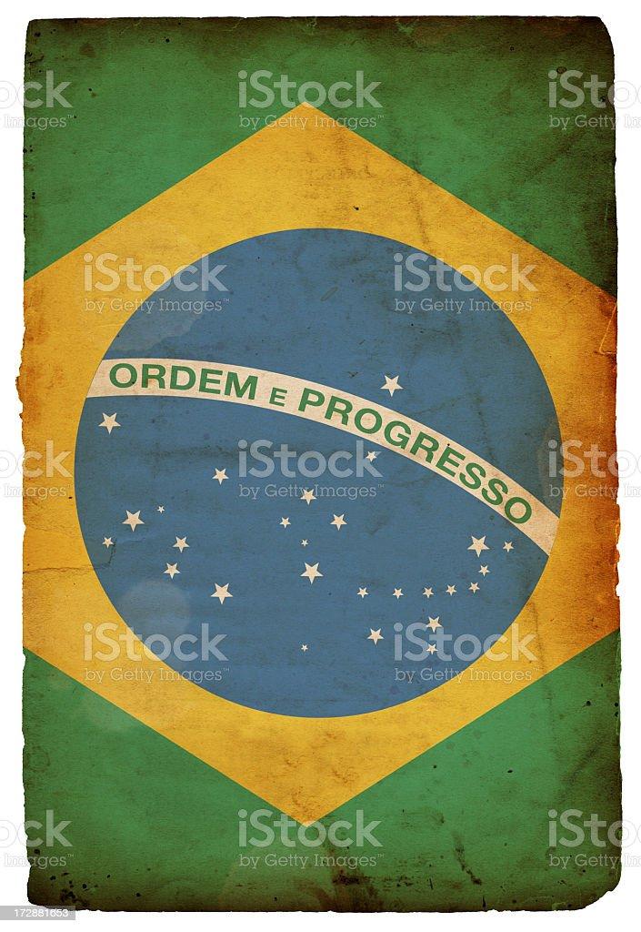 Flag of Brazil XXXL royalty-free stock photo