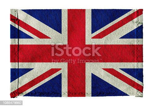 Flag of Britain with canvas background