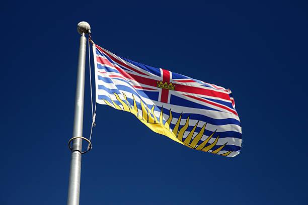 Flag of British Columbia, Canada stock photo