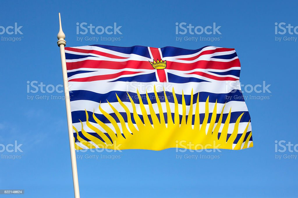 Flag of British Columbia - Canada stock photo