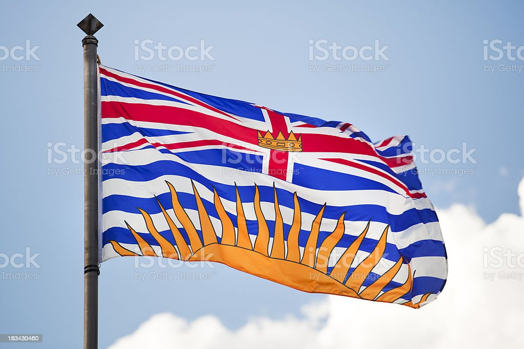 Flag Of British Columbia stock photo