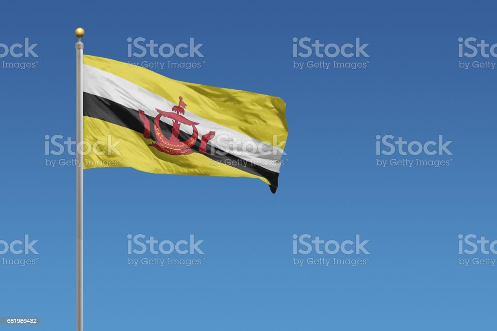 Flag of Brunei Darussalam stock photo