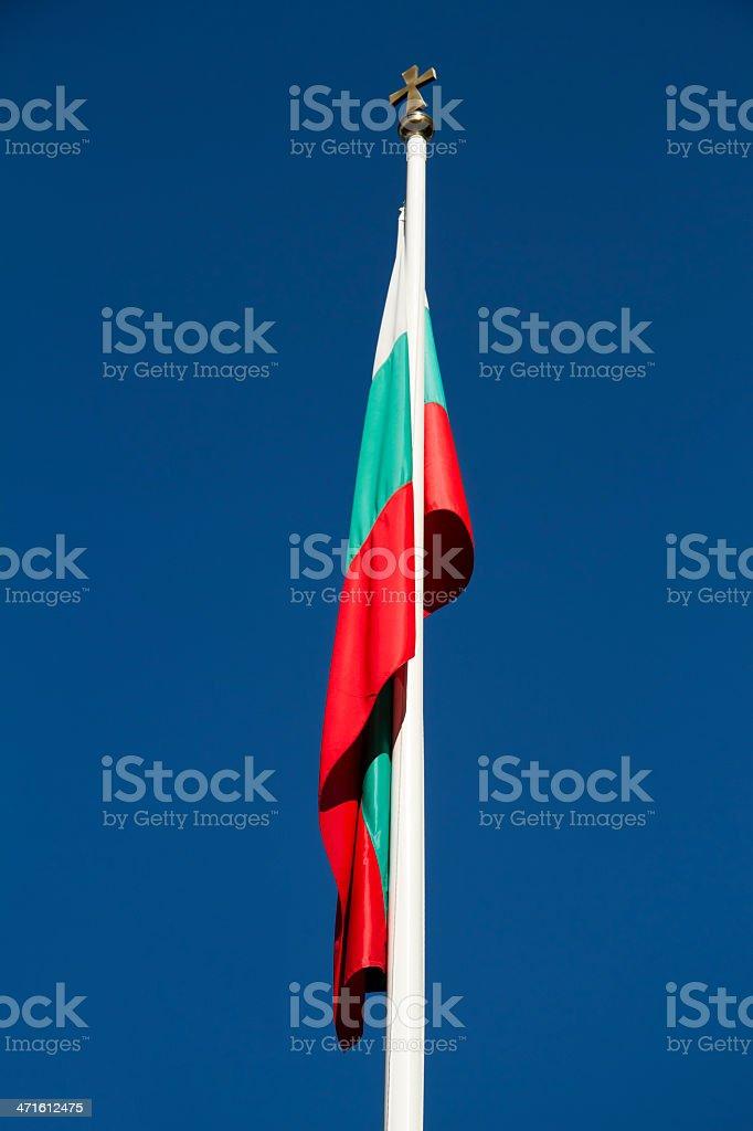 Flag of Bulgaria against blue sky stock photo