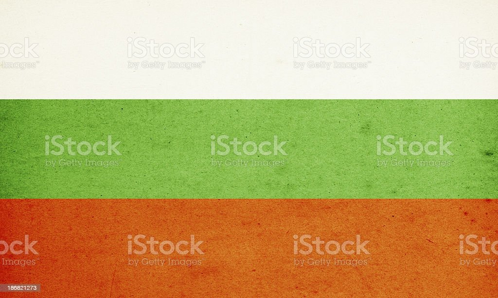 Flag of Bulgaria Close-Up (High Resolution Image) stock photo