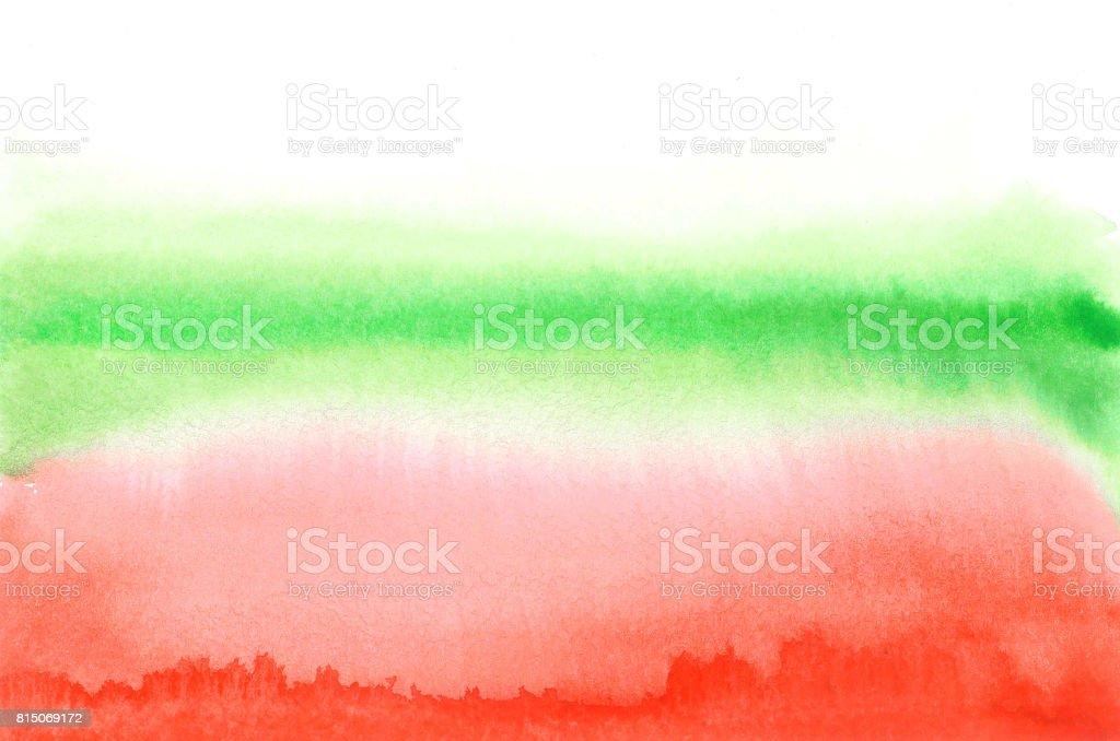 Flag of Bulgaria in watercolor stile stock photo