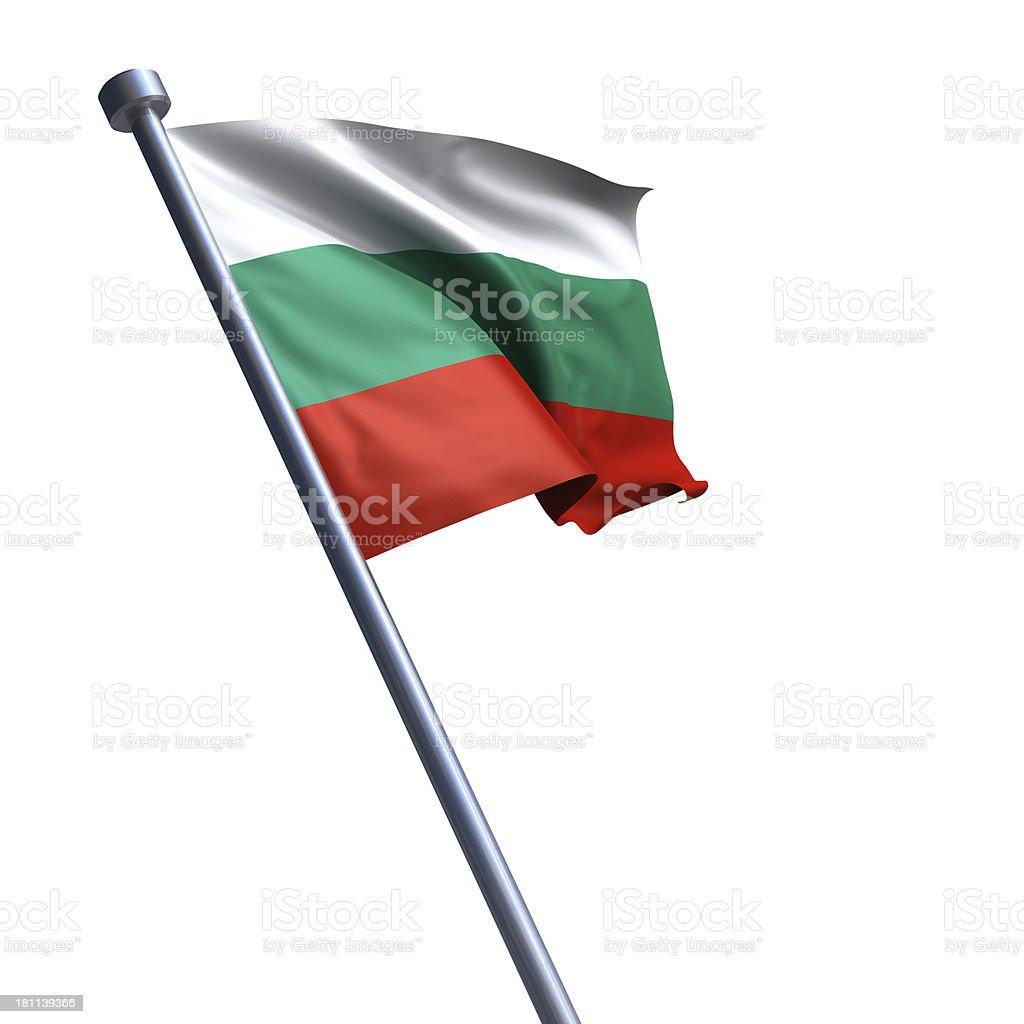 Flag of Bulgaria isolated on white stock photo