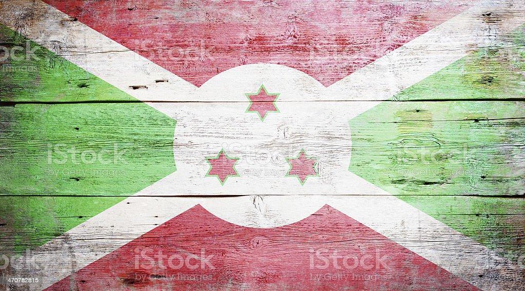 Flag of Burundi stock photo
