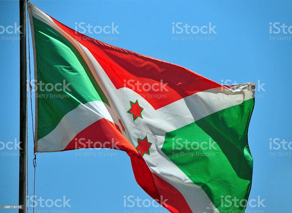 Flag of Burundi (photo, not computer graphic) stock photo