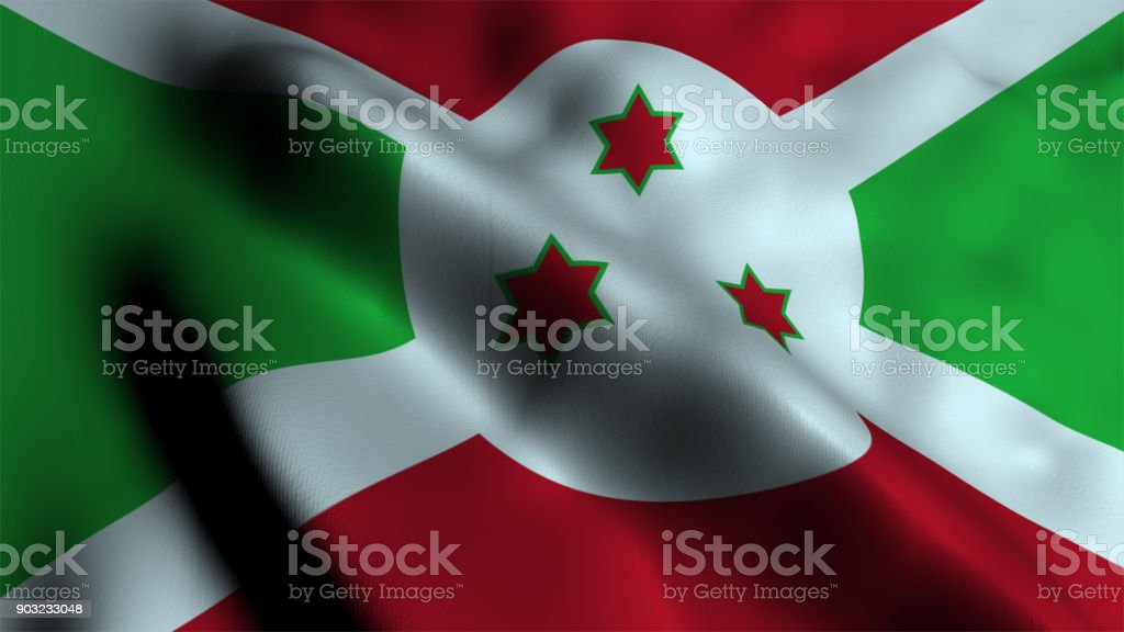 Flag of Burundi stock photo