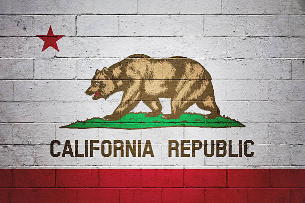 Flag of California painted on a wall - foto de stock
